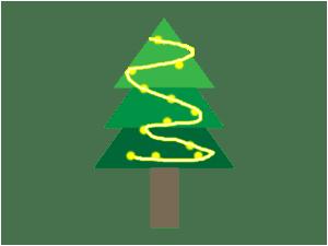 クリスマスツリー ライト 巻き方
