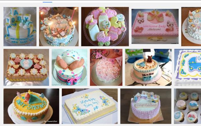ベビーシャワー デコレーションケーキ